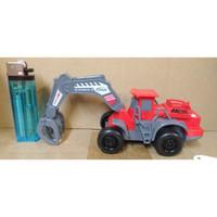 Mainan Anak - Friction Engineering Truck Mini - Merah