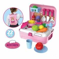 Kado Mainan Anak perempuan Kitchen set Backpack / Mainan Masak Masakan