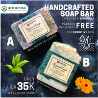 Amorina Natural Soap- Green Tea & Spirulina