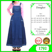 Gamis Overall Jeans anak usia 7-10tahun - Navy