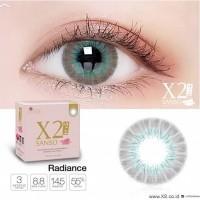 X2 SANSO softlens warna kadar air tinggi mata sensitif W - RADIANCE