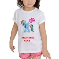kaos Baju Tshirt Anak Custom Little pony / little pony LP003