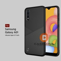 Case Samsung Galaxy A01 Casing Slim Business Leather Pattern