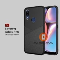 Case Samsung Galaxy A10s Casing Slim Business Leather Pattern