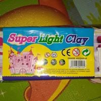 Mainan anak edukasi super light clay 12 warna tanah liat berwarna