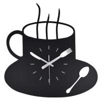 Jam Dinding Quartz Creative Design Model Coffe Clock - MM60WC