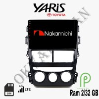 Nakamichi Android 9 inch 4G WiIFI Bluetooth OEM Toyota Yaris Head Unit