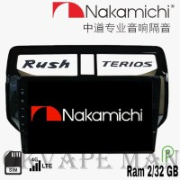Nakamichi Android 9 inch 4G WIFI Bluetooth OEM Rush Terios Head Unit