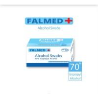 Falmed + Alcohol Swabs 70% percent persen Swab Kapas Virus Kuman