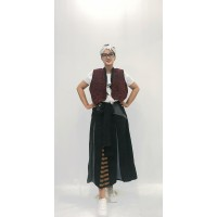 OLINE WORKROBE - Waisted Simple Vest in Red Tex