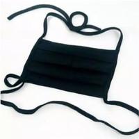 R0531 Masker Hijab Kain Persegi Polos Tali Panjang Motor Bisa Cuci