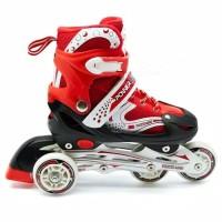 Sepatu Roda Inline Anak Anak Skate Bisa Roda Bajaj Lengkap Baut L - Biru, S