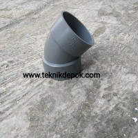 Elbow 4 Inch D Rucika Knie Belokan 45 Derajat Sambungan PVC Depok