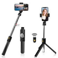 K10 Selfie Stick Tongsis 3 in 1 with Bluetooth Tripod Standing