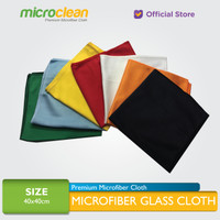 MICROCLEAN Microfiber Glass Cloth / Kain Lap Kaca 40x40cm [Soft Blue]