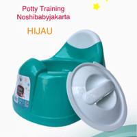 Potty Training / Pispot Bayi green leaf dengan tutup - Hijau