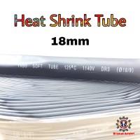 Heat Shrink Tube 18mm Selongsong Bakar Selang Bakar 1meter - Hitam