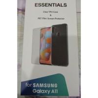 Soft Case dan Tempered Glass Samsung Galaxy A11