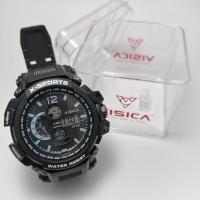 Jam tangan digital sporty water Resist Visica 666 - Hitam
