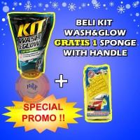 SPESIAL PROMO SHAMPO Mobil Motor Kit Wash & Glow Car Shampo 800mL