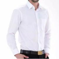 Kemeja Pria Lengan Panjang / Kemeja Formal Putih - Putih, M