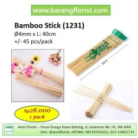Stik Bambu (1231), per pack, aksesoris toko bunga