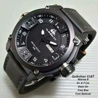 Jam Tangan Pria Sporty Quicksilver Day Date Aktif Strap Kulit