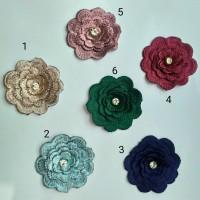 aplikasi bordir bunga 3D l renda bunga l renda bordir