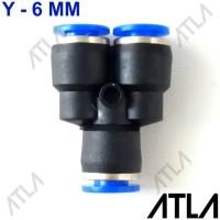 Terlaris Konektor Y 6 Mm Cabang 3 Slip Lock Mist Nozzle Pneumatic Pu