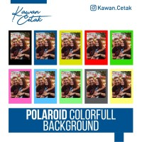 Cetak Foto Polaroid BACKGROUND WARNA POLOS 2R