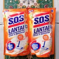 SOS PEMBERSIH LANTAI REFILL ORANGE 750ML