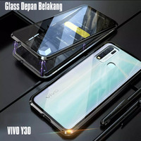 Double Glass case magnet VIVO Y30 magnetic Front+back
