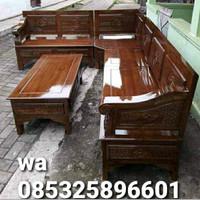 kursi tamu sudut tangan Bagong kayu jati termurah