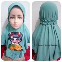Jilbab Anak Airish Harian Kerut LOL LED+Melody Bisa Nyala dan Musik