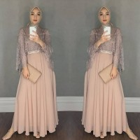 Maxi Dress Chikita Gamis Pesta Brukat Tile Gamis Lebaran Gamis Terbaru
