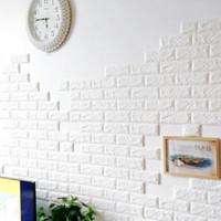 Wallpaper Dinding Sticker Foam 3D Bata Putih 70 x 77cm WALLPAPER