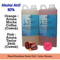 Hand Sanitizer Semi Gel 1 Liter (Aroma Mocha Coffee dan Taylor Swift)