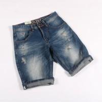 ripped jeans impor pria mode robek /celana pendek jeans cowok