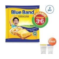 BLUE BAND Serbaguna Sachet [3 Pcs x 200 g] + Free Jar Cantik