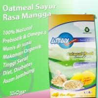 Oatmeal Buah Rasa Mangga Gula Alami Prebiotik Aman Diabetes - 150g