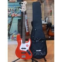 Squier Affinity Jazz Bass Guitar Laurel FB Race Car Red