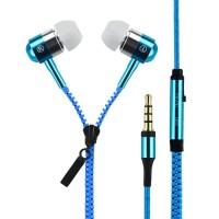 Headset Zipper Earphone Seleting Resleting Bass Handsfree + Mic Zipper
