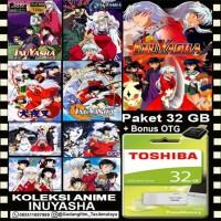 FLASHDISK TOSHIBA 32GB + FILM ANIME INUYASHA + OTG