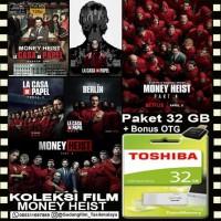 FLASHDISK TOSHIBA 32GB + FILM SERIAL MONEY HEIST + OTG
