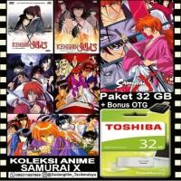 FLASHDISK TOSHIBA 32GB + FILM ANIME SAMURAI X + OTG