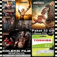 FLASHDISK TOSHIBA 32GB + FILM SERIAL SPARTACUS + OTG