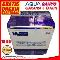 Aqua Mesin Cuci 2 Tabung 10 Kg QW-1080XT (GRATIS TANGERANG SEKITAR)