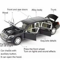 Diecast XLG mobil Mercedes Benz Limousine Maybach 1/24 mainan anak