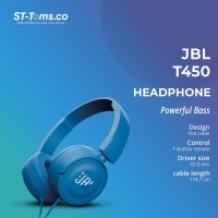 JBL On-Ear Headphone T450 - Biru