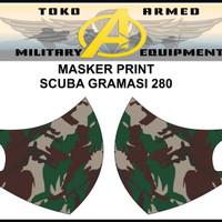 Masker Korea Bahan Kain Scuba TNI Polri Asn Custom Logo Suka-suka